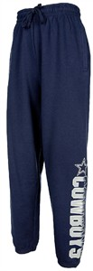 Dallas Cowboys Mens Navy Dillon Closed Bottom Sweatpants