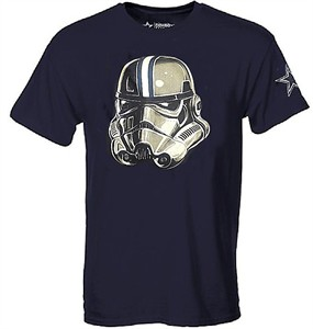 Dallas Cowboys Mens Navy Storm Trooper Short Sleeve T Shirt