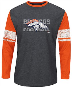 Denver Broncos Mens Down To The Wire Long Sleeve Thermal Shirt by Majestic 0d4463f4e