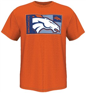 Denver Broncos Orange HOF Gamer V Short Sleeve T By Majestic