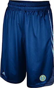 Denver Nuggets Blue Embroidered 12 inch Inseam Hoop Shorts by Adidas
