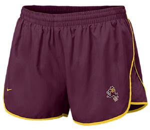 "Arizona State Sundevils Women's Maroon 3"" Inseam Dri-FIT Sister Tempo Running Shorts By Nike Team Sports"