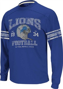 sports shoes 75543 84e88 Detroit Lions 11 Blue Vintage Applique Long Sleeve Shirt by ...