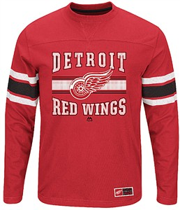 Detroit Red Wings Adult Red Forecheck Long Sleeve T Shirt