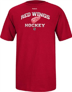 Detroit Red Wings Red Elite Practice Short Sleeve Tee Shirt by Reebok