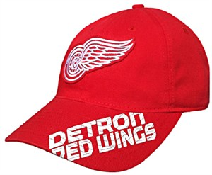 Detroit Red Wings Red NHL Slouch-Fit Adjustable Cap by Reebok