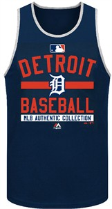Detroit Tigers AC Navy Team Property Tank Top by Majestic