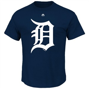 Detroit Tigers Majestic Official Logo Short Sleeve T Shirt