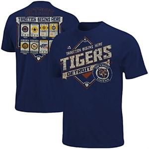 Detroit Tigers Mens Game Obsessed Tee Shirt by Majestic