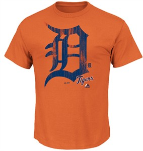 new concept ea7db cb305 Detroit Tigers Mens Orange Takin Em to School T Shirt by ...
