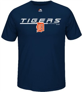 Detroit Tigers Synthetic Aggressive Performance Short Sleeve Shirt by Majestic