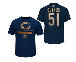 sports shoes 50d52 6d615 Dick Butkus Chicago Bears Hall Of Fame Tee Shirt by VF ...