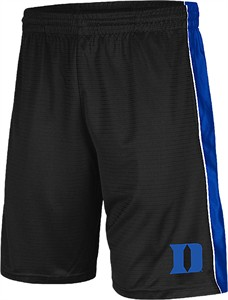 Duke Blue Devils Black 10 Inch Inseam Layup Synthetic College Shorts by Colosseum