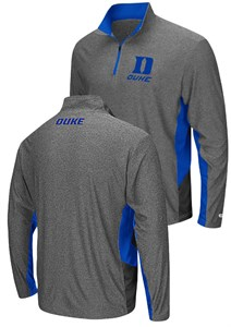 Duke Blue Devils Charcoal The Executive Pullover Synthetic Windshirt