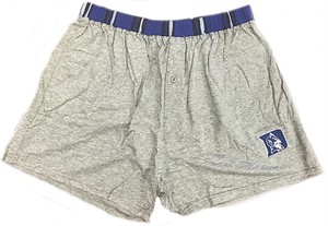 Duke Blue Devils Mens Grey Millennium Grey Solid Boxer Shorts