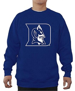 Duke Blue Devils Mens Royal Embroidered Logo Crewneck Sweatshirt