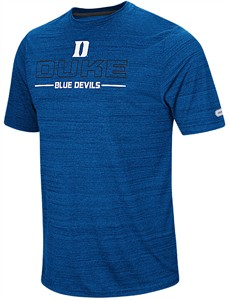 Duke Blue Devils Mens Royal Line Up Polyester Short Sleeve T Shirt