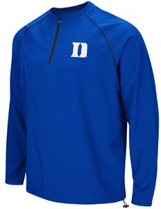 Duke Blue Devils Mens Royal The Bigs Quarter Zip Windshirt