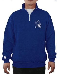 Duke Blue Devils Royal Campus Quarter Zip College Pullover Sweatshirt