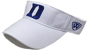 Duke Blue Devils White Memory Fit Hawkeye College Visor