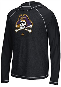 East Carolina Pirates Adidas School Logo Ultimate Climalite Long Sleeve Hoodie T Shirt