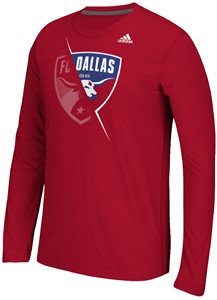 FC Dallas Uncovered Adidas Climalite Synthetic Ultimate Long Sleeve Shirt