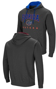 Florida Gators Mens Charcoal Grey Colosseum Embroidered Playbook Hoodie Sweatshirt