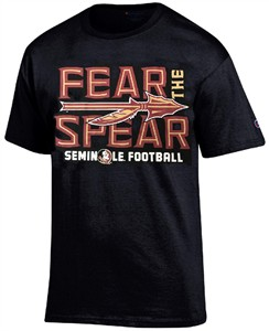Florida State Seminoles Black Champion Fear The Spear T Shirt