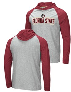 Florida State Seminoles Grey Slopestyle Long Sleeve Hoodie T Shirt