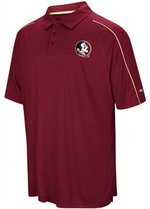 Florida State Seminoles Mens Garnet Setter Synthetic Poly Polo Shirt