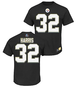 cfb79d6e2 Franco Harris Pittsburgh Steelers Majestic HOF Eligible Receiver 2 Tee Shirt
