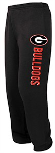 Georgia Bulldogs Domination Power Sweatpants by Majestic-Black