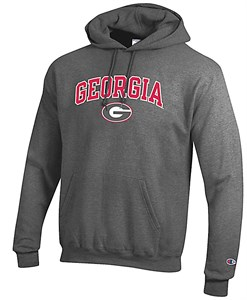 Georgia Bulldogs Granite Heather Champion Campus Powerblend Screened Hoodie Sweatshirt