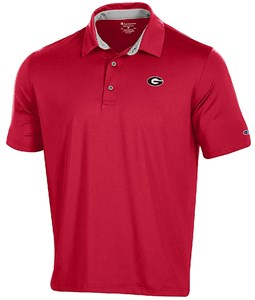 Georgia Bulldogs Men's Scarlet Blitz Synthetic Polo Shirt on Sale
