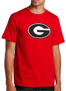 Georgia Bulldogs Men's Red Big Win College T Shirt by Majestic on Sale