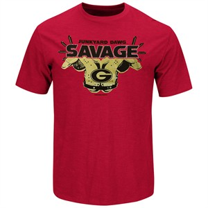 Georgia Bulldogs Red Short Sleeve Savage Tee Shirt