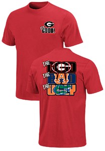 Georgia Bulldogs The Good Bad Ugly Red Short Sleeve T Shirt