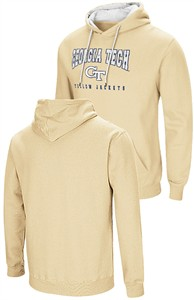 Georgia Tech Yellow Jackets Mens Gold Colosseum Embroidered Playbook Hoodie Sweatshirt