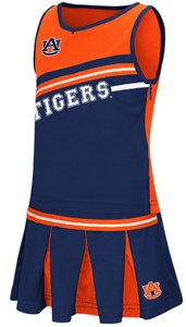 Girls Toddler Auburn Tigers Blue Curling Cheer Set