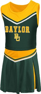 Girls Toddler Baylor Bears Green Aerial Cheer Set