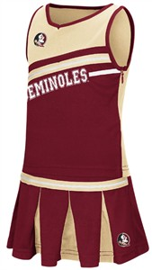 Girls Toddler Florida State Seminoles Garnet Curling Cheer Set