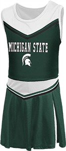 Girls Toddler Michigan State Spartans Green Aerial Cheer Set