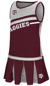 Girls Toddler Texas A&M Aggies Maroon Curling Cheer Set