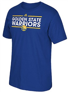 Golden State Warriors Adidas Royal Blue Dassler Ultimate Synthetic Short Sleeve T Shirt