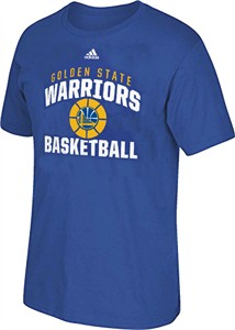 Golden State Warriors Mens Short Sleeve T Shirt, Bank Shot, Royal