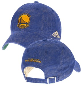 Golden State Warriors Washed Blue Slouch Adjustable Cap