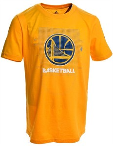 Golden State Warriors Gold Adidas Key To Victory Mens Short Sleeve T Shirt