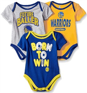 Golden State Warriors Infant & Toddler  Little Fan 3 Pack Creeper Set
