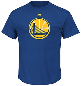 Golden State Warriors Mens Blue Majestic Logo 2 Short Sleeve T Shirt