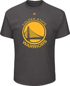 Golden State Warriors Mens Charcoal Relentless Preparation Short Sleeve T Shirt